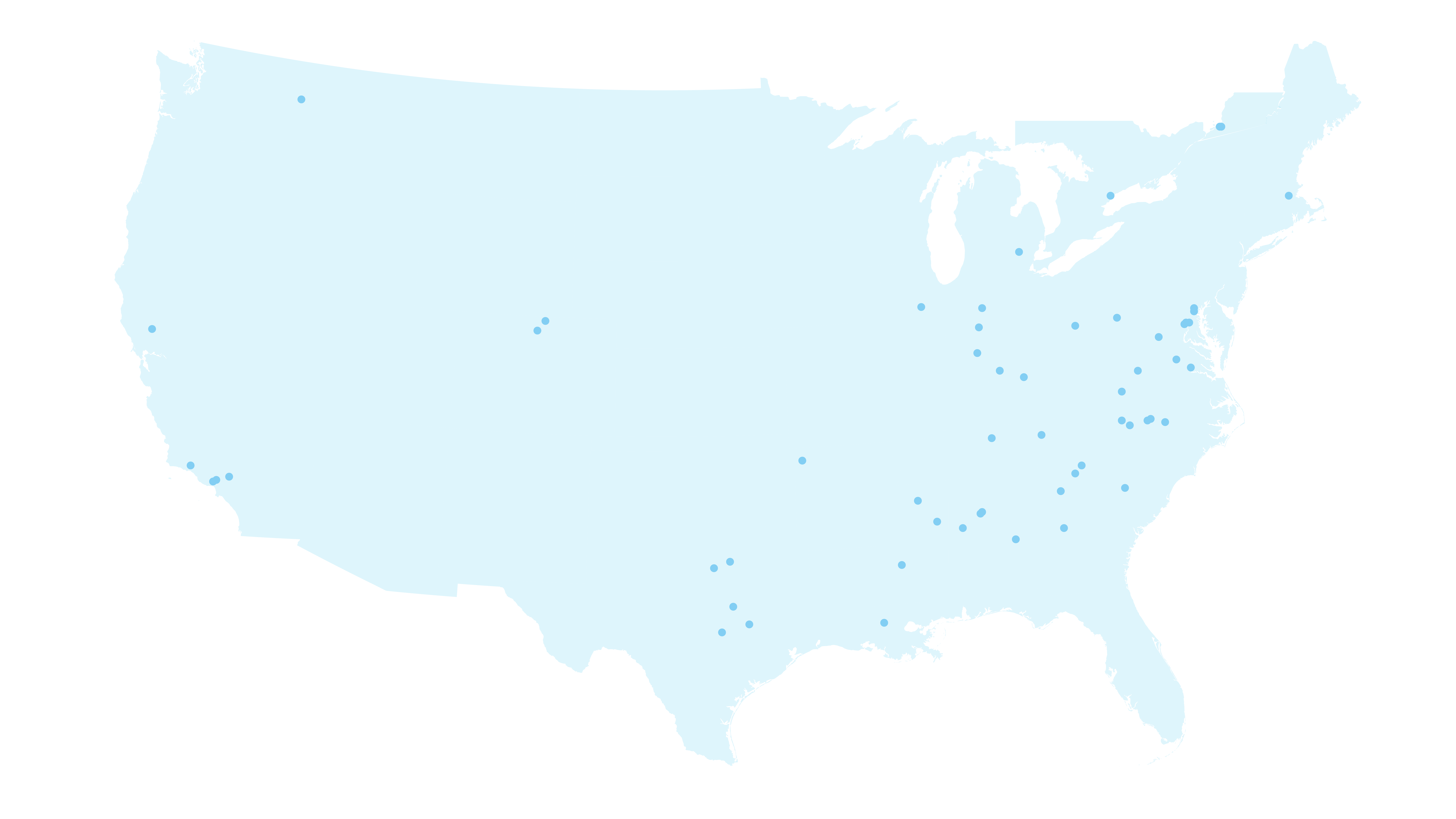 Us map dots